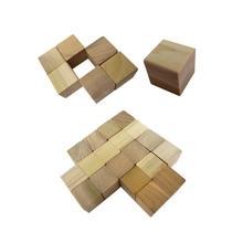 2.54 cm Wood Cube