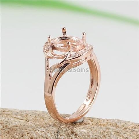 925 Silver Ring Stand P1824 Rose Gold