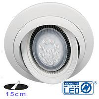 6 inch 15W Dimmable LED Downlgith with AR111 bulb NICHIA LED