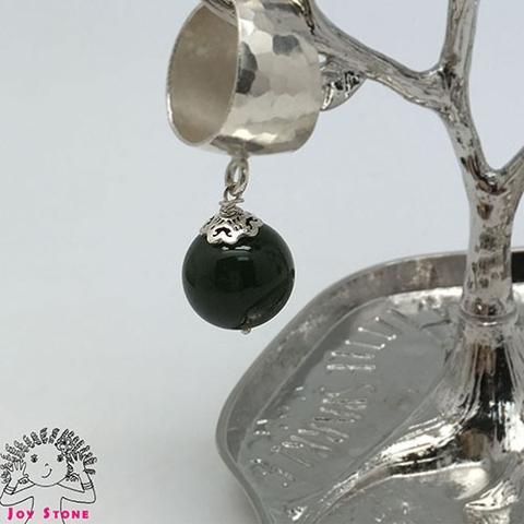 Nephrite Diamond shaped Markings Ring