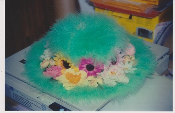 Women's Fashion Winter Furry Warm Hats with Green Color