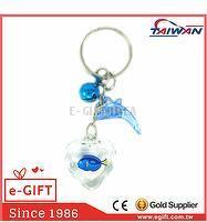 Acrylic Heart Dory Fish Bell Dolphin Keychain