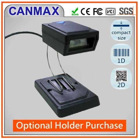 Taiwan CANMAX 2D Fixed mount hand free rugged barcode scanner