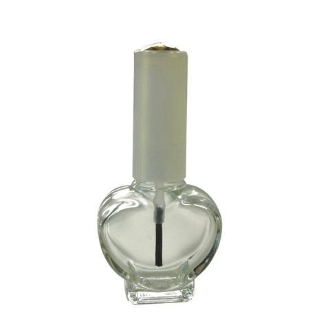 10ml Heart Shaped Clear Glass Nail Polish Bottle