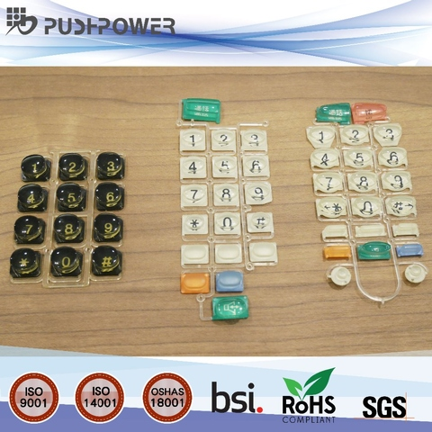 plastic and rubber injection molded keypad accessory for speaker audio video equipment,chemicals silicone rubber,