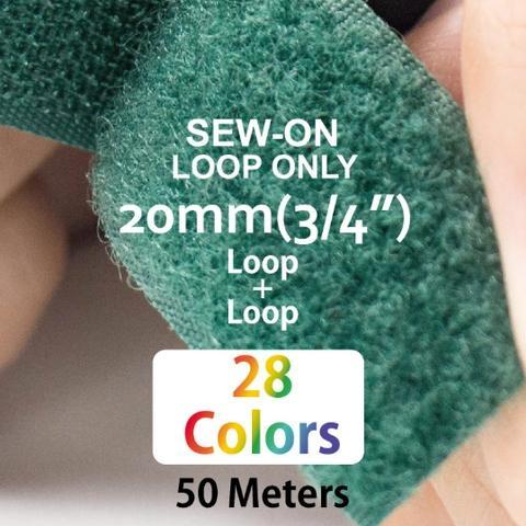 """20mm(3/4"""") Width 25 Pair Meters Sew-On Loop ONLY"""