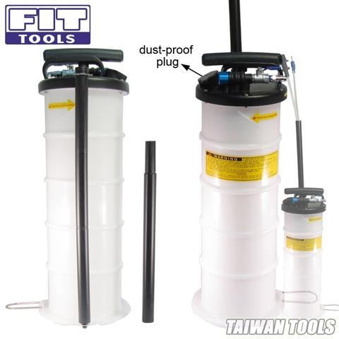 6.5 L Pneumatic / Manual Operation Fluid Extractor