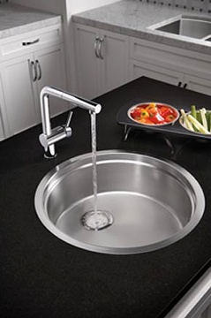Round stainless steel sinks