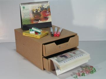 Storage box with 2 drawers (cardboard) (SL-AP03-ICL)