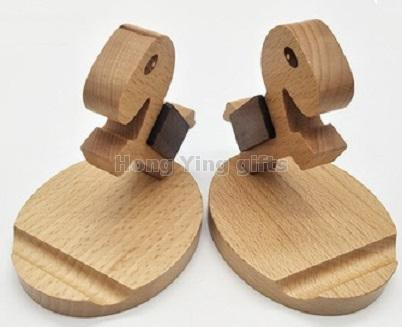 wooden mobile call phone holder