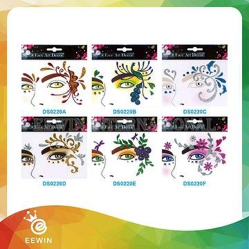 Tattoo Sticker Women Fashionable Custom Rhinestone Face DS0220