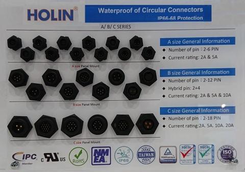 Taiwan Waterproof Circular Connector A/B/C/D/E/P Size and