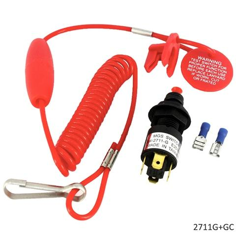 Emergency Cut-off Switch With Coiled Lanyard