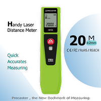 Hot items 20M measuring range laser distance meter HP20 with single, continuous, area, dimension HP20 smart and small