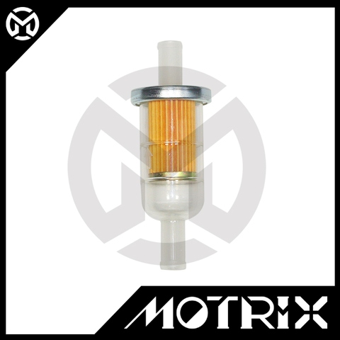 """Motorcycle Nylon casing with paper fuel filter.  3/8"""" fit for HONDA"""
