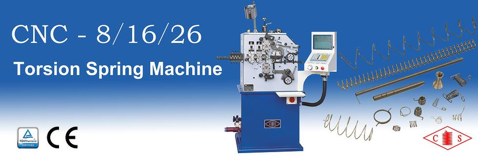 CNC - 8/16/26 Torsion Spring Machine