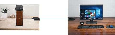 Single Over Cat 5e/6 HDMI KVM Extender, 100M