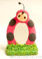 Mini Ladybird Mirror Stand DIY Kit with Light Clay, Education Kit