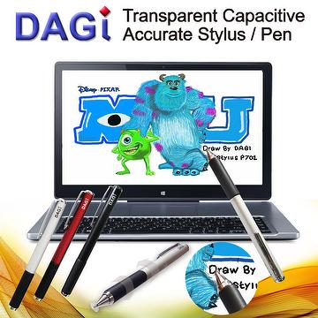 Apple iPad Pro Air mini iPad iPhone X 8 iPod touch Transparent Capacitive DAGi Stylus Styli Pen Stylet Griffel fits for Windows Phone HTC M8, Nokia Lumia, Samsung Galaxy Tab, ASUS Eee Pad Transformer, Sony Tablet, Acer Aspire iconia Tab, table and smart