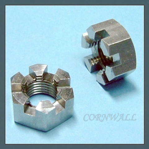 CASTLE NUT,HEX SLOTTED NUT