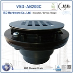ABS Shower Drains w/round S.S. Snap-Tite Strainer