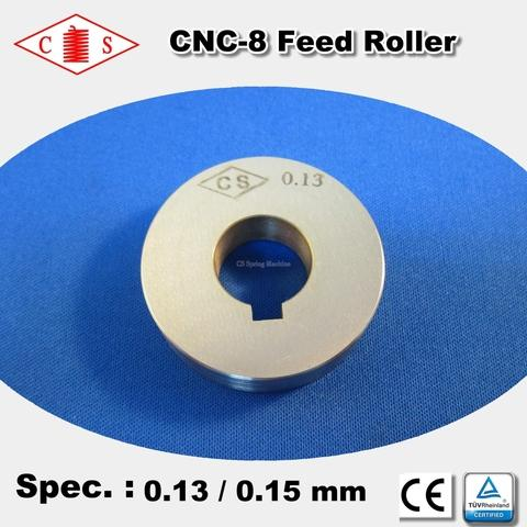 CNC-8 Feed Roller 0.13 / 0.15mm - FRONT