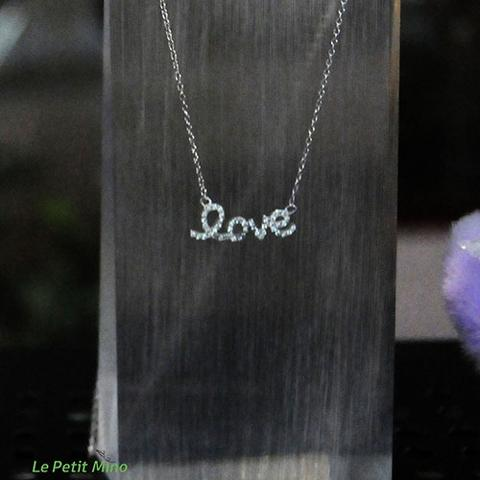 925 Silver Bling Love in Lowercase Pendant Necklace