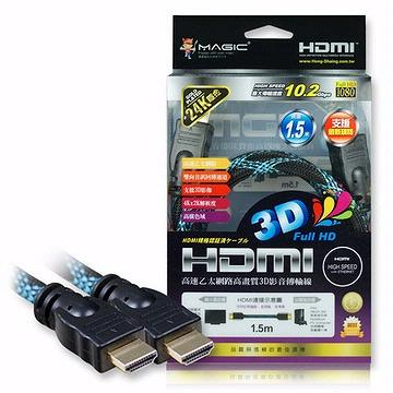 High Speed HDMI Braided Cable with Ethernet-1.5M