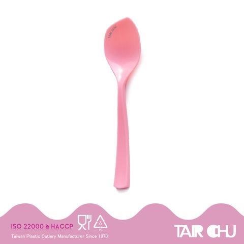 11.5cm PS BubbleGum Pink Cute Disposable Plastic Yogurt Spoon Made By Taiwan Factory