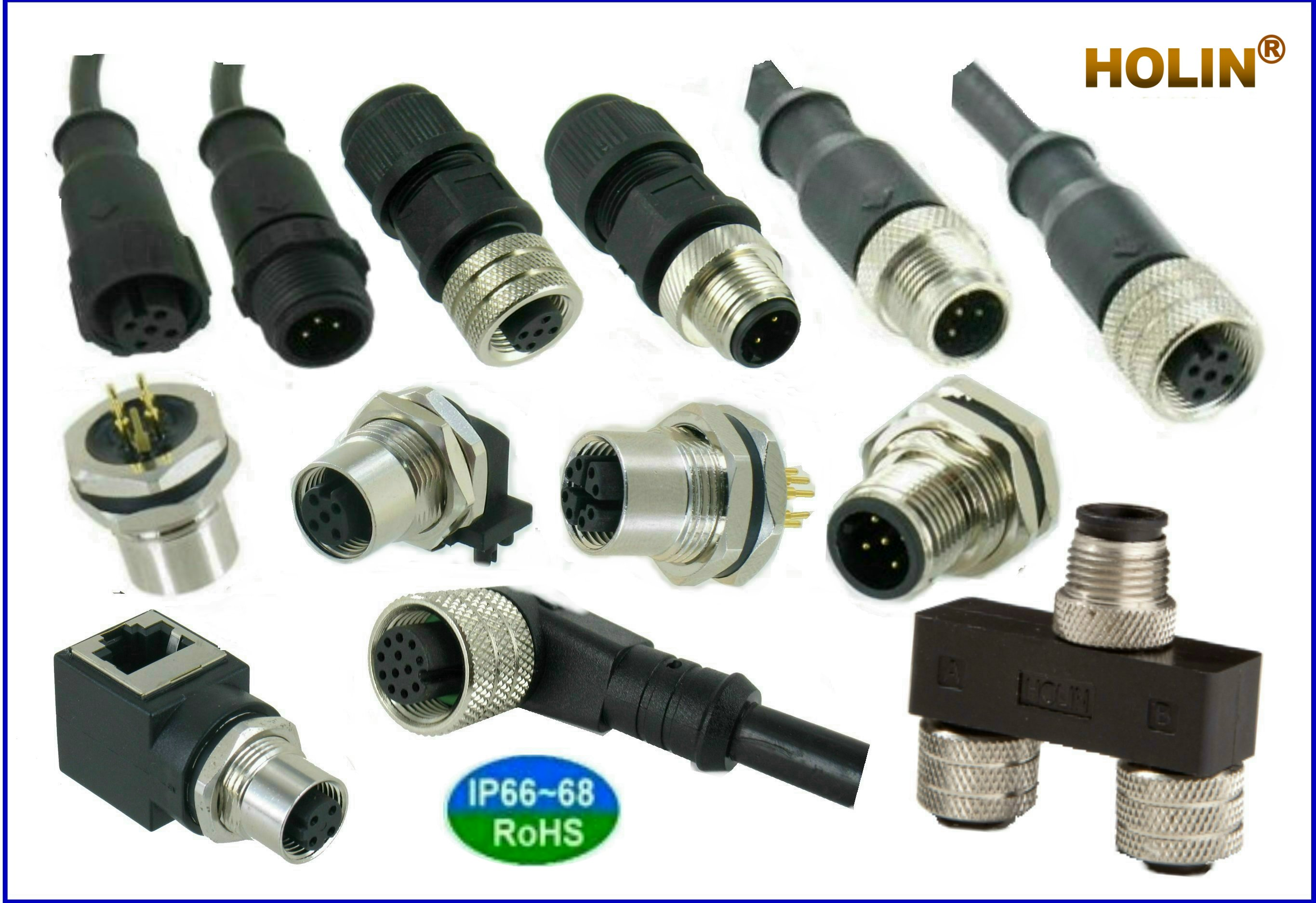 Best M12 Signal Fieldbus Connector A B Coded Htp Asia