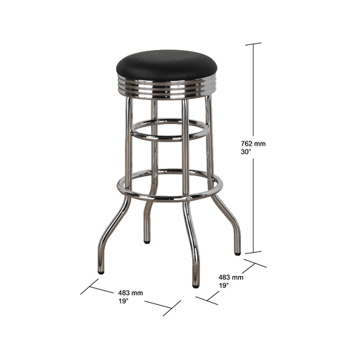 Wondrous Taiwan Double Ring Chrome Swivel Bar Stool Taiwantrade Beatyapartments Chair Design Images Beatyapartmentscom