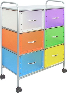 Storage trolley with 6 PP drawers(SL-3026-ISS)