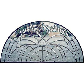 Taiwan Above Door French Door Entrance Entry Door Leaded Glass