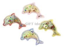 Dolphin Magnet with Water, Sand, Seashells