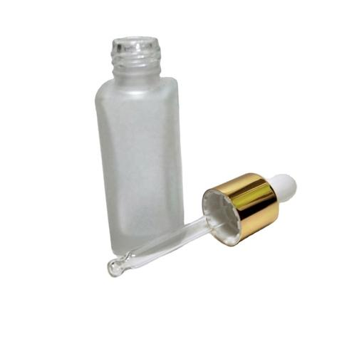 10ml Rectangular Frosted Glass Bottle With Dropper