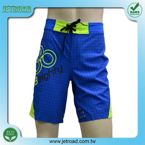 Men's 4 way stretch placement printed board shorts