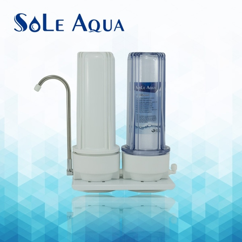 2 stage household pre-filtration counter top water filter system