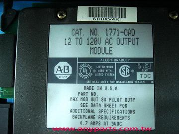 (A-B PLC) Allen Bradley 1771 Programmable Controller CPU:1771-OAD Output Module