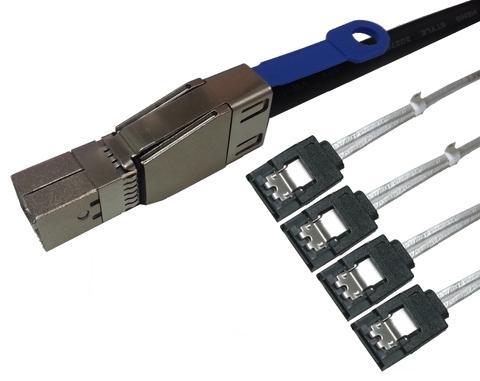 Mini SAS HD External SFF-8644 to 4 x SATA Cable