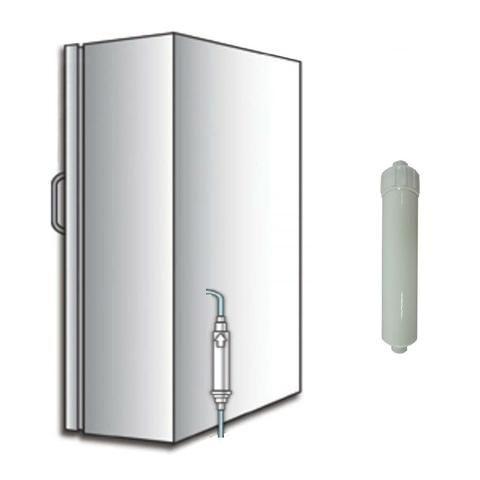 Replaceable element inline water cartridge