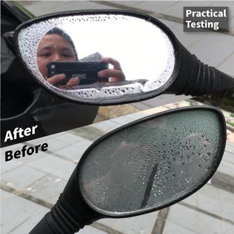 Japan【idea-auto】Scooter mirror Anti-fog/rain Film