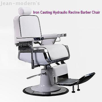 Luxury Iron Casting Hydraulic Recline Barber Chair