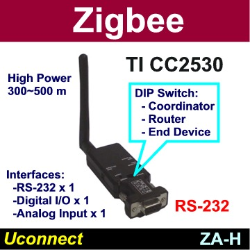 Taiwan High Power Zigbee Serial Rs232 Adapter For Iot Wsn