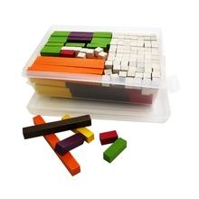 1-10cm Wooden Cuisenaire rods Bars Mixed D