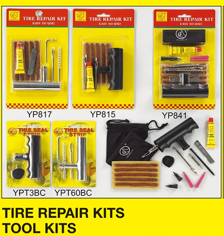 TIRE REPAIR KITS, TOOL KITS