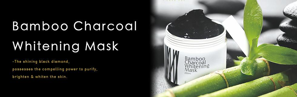 Bamboo Charcoal Whitening Mask iLoVeggie The BEST Bamboo Charcoal Whitening Mask Moisturizing, Brighten Skin, Whitening, Clean Skin, Prevent Acne, Oil Control