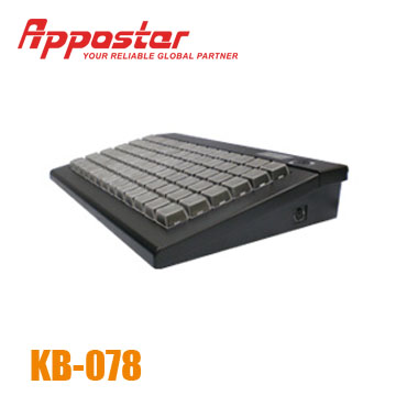 Appostar Programmable Keyboard KB078 Left Side View