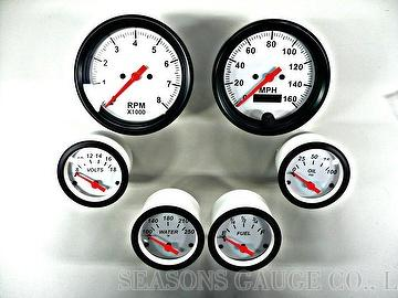 Automotive Gauges-- oil pressure, voltmeter, oil temperature, pyrometer, tachome