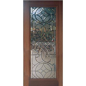 Taiwan French Door Entrance Entry Door Leaded Glass