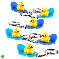 Yellow Duck Character Surfing Board Key Chain Random Color Delivery Lot of 3